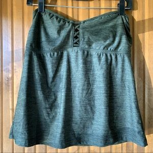 Mossimo Olive Green Bathing Suit Top | L